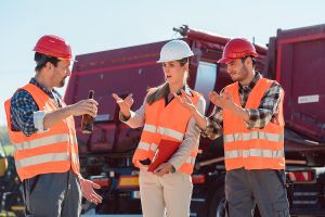 Employees of a freight forwarding company